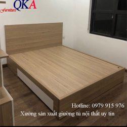 Giường ngủ gỗ công nghiệp – GNC 01
