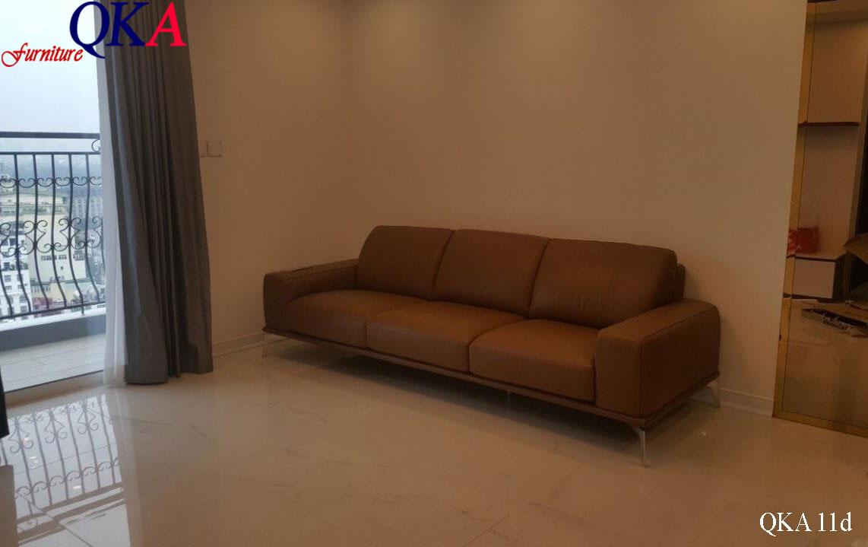 Mẫu ghế sofa băng bọc da – QKA11d