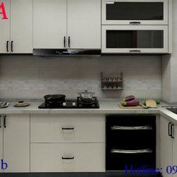 Mẫu tủ bếp – QKA 91b