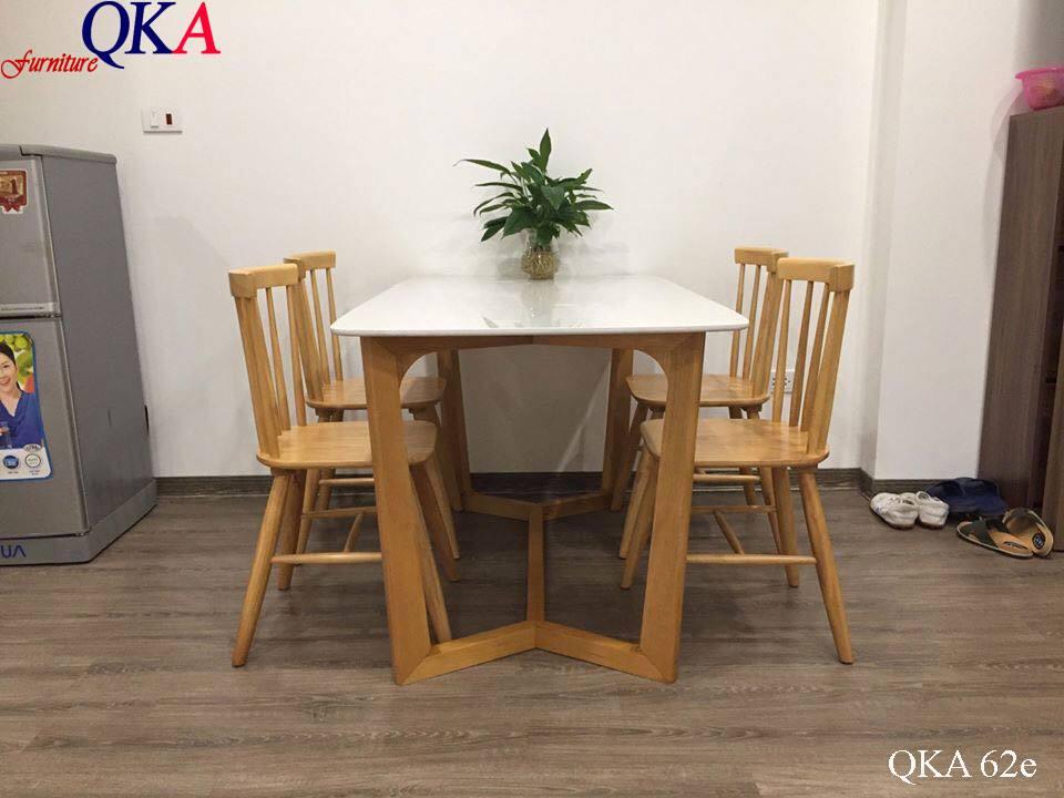 Bàn ghế ăn mặt đá QKA 62e
