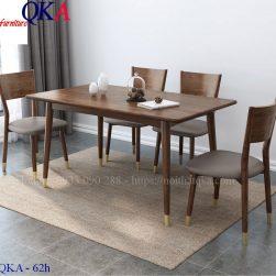 Bộ bàn ghế ăn – QKA 62h