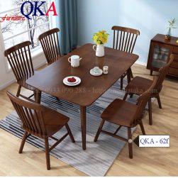 Bộ bàn ghế ăn – qka 62f
