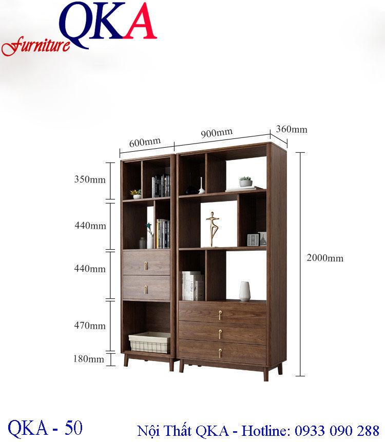 Mẫu tủ kệ gỗ – QKA 50