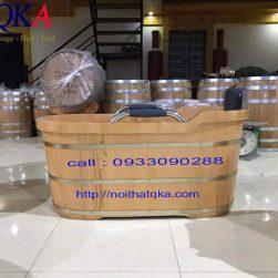 Bồn tắm gỗ oval _ QKA