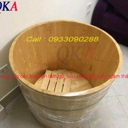 Bồn tắm tròn bằng gỗ tự nhiên