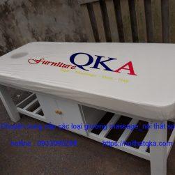 Giường mát xa khung gỗ loại có hộp tủ_QKA GG01c