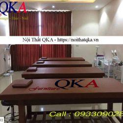 Giường mát xa khung gỗ màu nâu_QKA GG01a