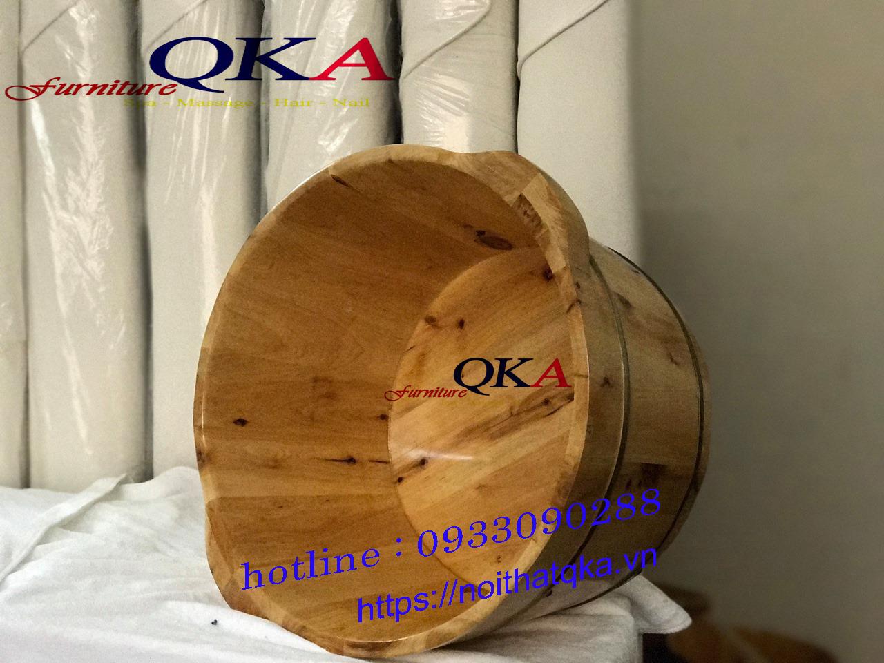 Chậu ngâm chân gỗ QKA