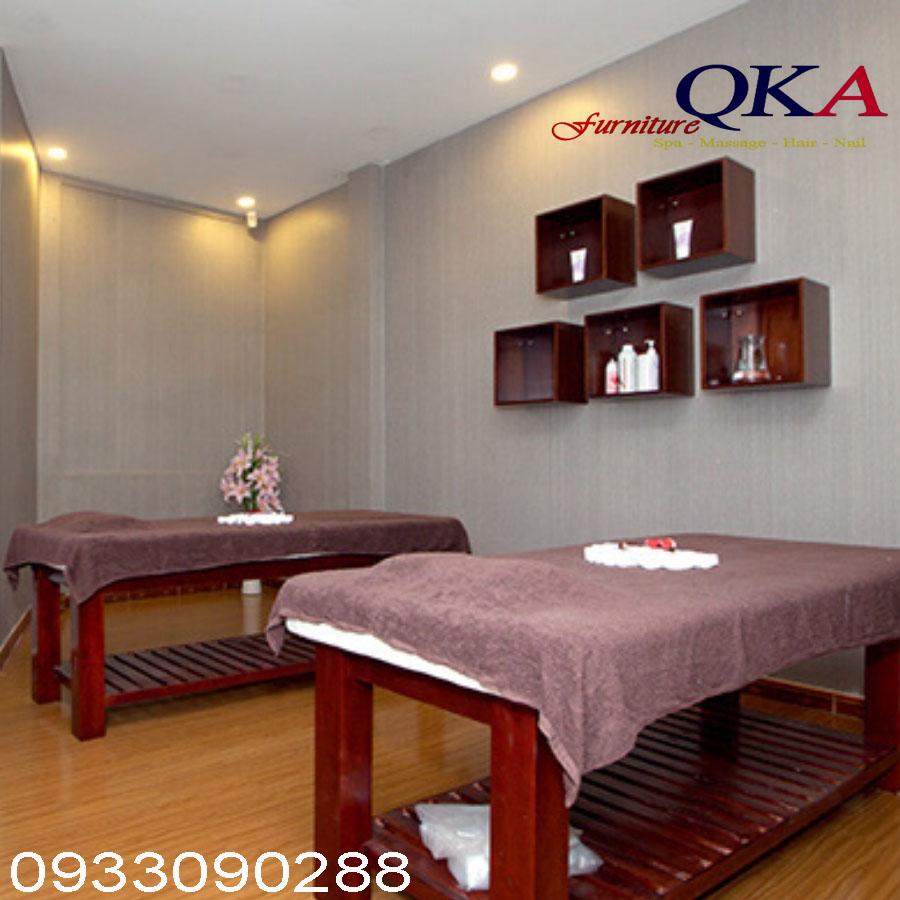 Giường massage với khung gỗ chắc chắn